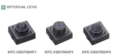 KTnC KPC-VSN700NH Color Super Miniature Camera - 550 TVL, 0.05 Lux, 12V DC, 30x30mm LENS OPTIONS